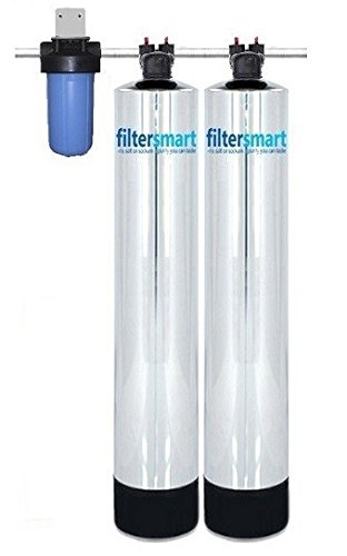 Whole House Water Filter and Salt Free Softener Combo 1-4 Bath 12 GPM