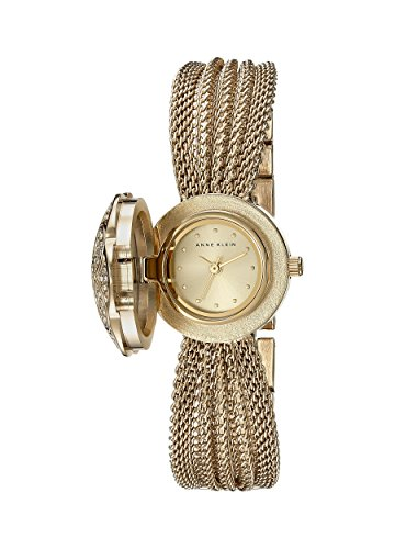 Anne Klein Womens AK1046CHCV Swarovski Crystal Accented Watch