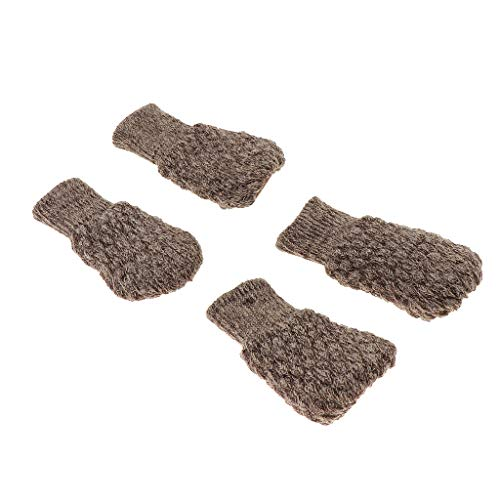- SM SunniMix 4Pcs for Girth 10-18(Round&Square) Covers/Knitted Chair Leg Socks,Moving Easily and Reduce Noise - Khaki