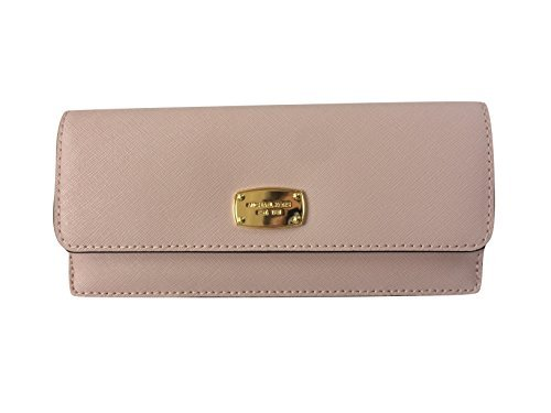 198677917bb8 Michael Kors Jet Set Travel Flat Wallet in Saffiano Leather (Blossom) by Michael  Kors