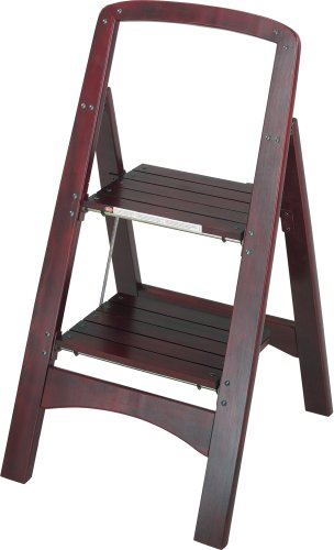 Cosco Two Step Rockford Wood Step Stool, Mahogany