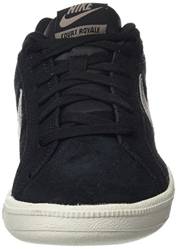 Nike Herren Court Royale Suede Sneaker Schwarz (Black/mtlc Pewter/light Bone)