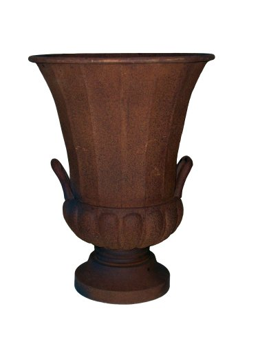 Gardman 8229 Rustic Grecian Style Urn Planter with Handles, 15'' Long x 15'' Wide x 20'' High by Gardman