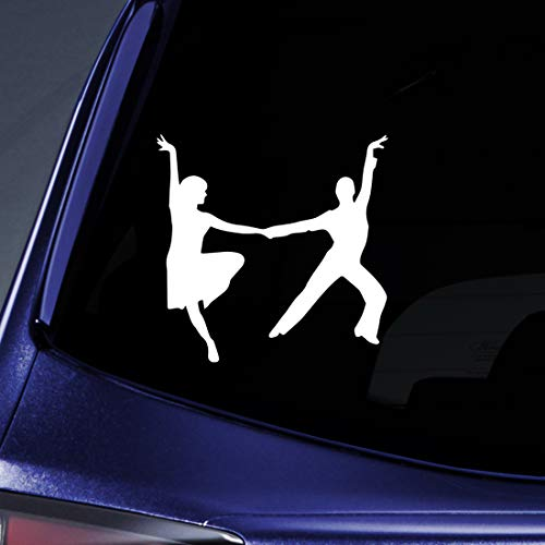 Bargain Max Decals Dancing Couple Sticker Decal Notebook Car Laptop 5.5