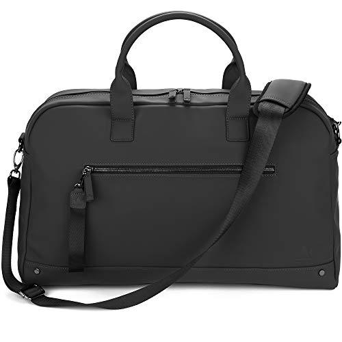 The Friendly Swede Weekender Duffle Shoulder Bag - High-end VRETA Weekend Bag - 35L (Black)