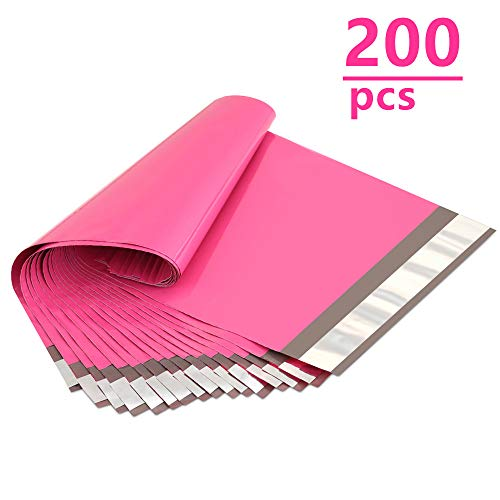 UCGOU 200 Pack- 6x9 Poly Mailers Bags Hot Pink Shipping Envelopes Mailers Bags with Self Adhesive