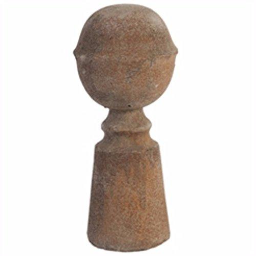 Cotta Terra Finial (Benzara Rustically Charmed Terracotta Finial, Brown)