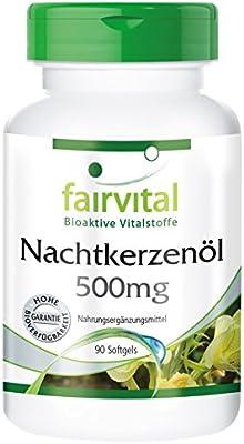 Aceite de Onagra 500mg - Dosis elevada - 90 Cápsulas blandas - rico en GLA - Calidad Alemana: Amazon.es: Salud y cuidado personal
