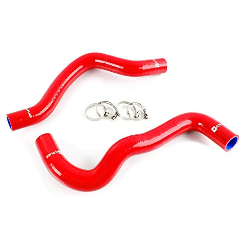 Radiator Coolant & Heater Silicone Hose Kit For MAZDA 2 SERIES ZY-VE 2007-2014 2008 2009 2010 2011 2012 2013 (Red -with Clamp Set)