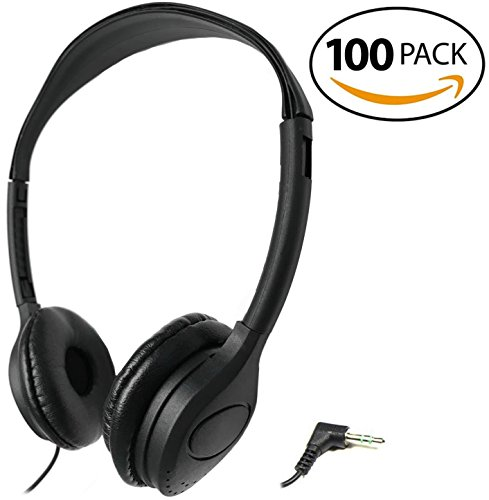 SmithOutlet 100 Pack Over the Head Low Cost Headphones in Bulk by SmithOutlet