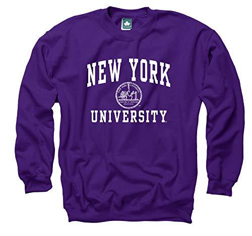 Ivysport NYU Crewneck Sweatshirt, Legacy, Violet, Large