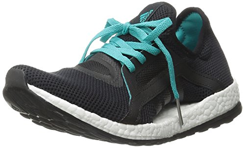 Adidas Performance Women's Pure Boost X Running Shoe,Black/Shock Green/Black,6.5 M US