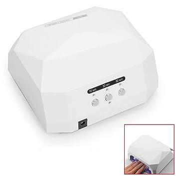 Ociodual Lampara UV Secador Uñas Manicura Gel Esmalte Permanente Ultravioleta 36W Blanco: Amazon.es: Electrónica