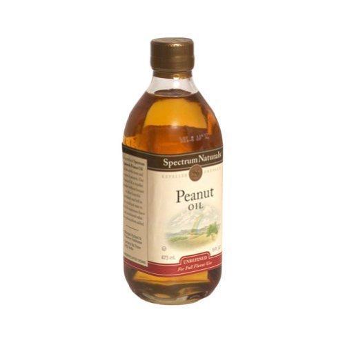 Spectrum Naturals Unrefined Peanut Oil 16 Oz -Pack of 3 by Spectrum Diversified