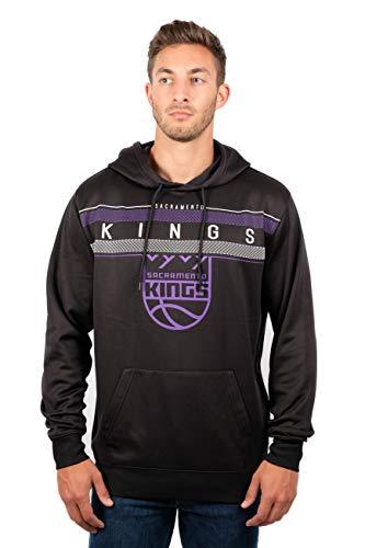 (UNK NBA Men's Fleece Hoodie Pullover Sweatshirt Poly Midtown, Black,)