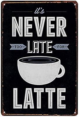 Kentop - Cartel decorativo de metal, para café, restaurante ...
