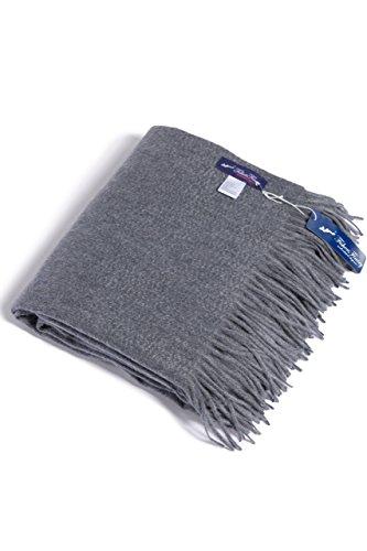 Fishers Finery Fringe Blanket Cashmere