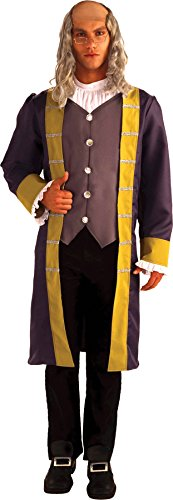 UHC Benjamin Franklin Outfit Colonial Historical Fancy Dress Halloween Costume, OS - Benjamin Franklin Halloween Costume