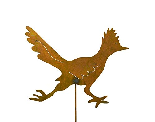 Roadrunner Rusty Metal Garden Stake