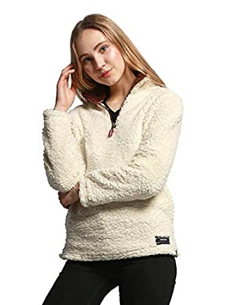 Hadudu Women's Pullover Fall Winter Plus Size Fleece Warm