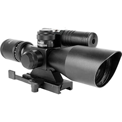 AIM 2.5-10x40 Tactical illuminated Reticle Rifle Scope + Backup Aiming Sight Fits AR15 M4 Ruger SR556 SR22 Mossberg Tactical .22 MM4 SIG556 SIG522 Hi-Point 4095 4595 9mm .40 45 Carbine Kel-Tec SU16 SU22 FN SCAR ACR