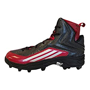 adidas Crazyquick 2.0 High MD NCAA Mens Football Cleat 12.5 Black-Platinum-Power Red