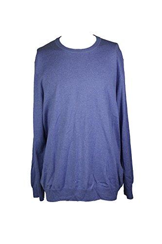 Ribbed Silk (Club Room Mens Ribbed Trim Long Sleeves Casual Shirt Blue L)