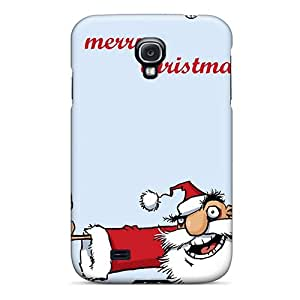 Spc2470RAzI Alcoholic Santa Merry Christmas Awesome High Quality Galaxy S4 Case Skin