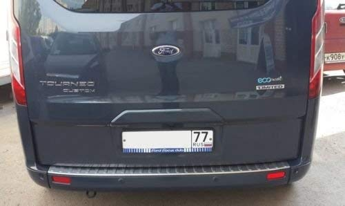 TRANSIT//TOURNEO CUSTOM Stainless Steel Chrome Rear Bumper Protector Scratch Guard