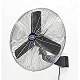 Oscillating Wall Mount Fan, 24' Diameter, 1/4hp, 7525cfm