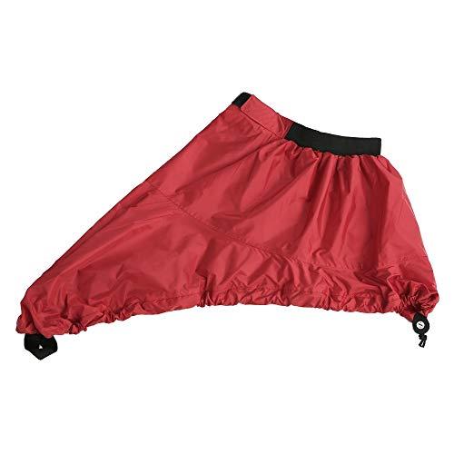 Yongshida Universal Adjustable Sport Waterproof Nylon Kayak Spray Skirt Deck Sprayskirt Cover, Red, XL-Size