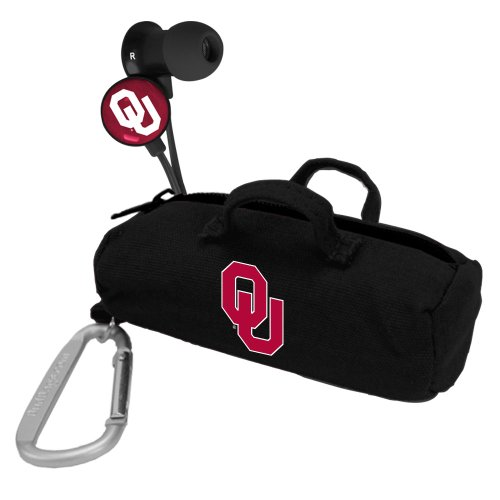 AudioSpice NCAA Oklahoma Sooners Scorch Earbuds with Bud Bag