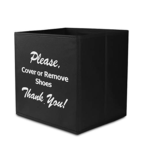 Shoe Covers Box, Opret Foldable Shoe Covers Holder Bootie Box Disposable Shoe Covers Box for Realtors and Open House(Black) ()