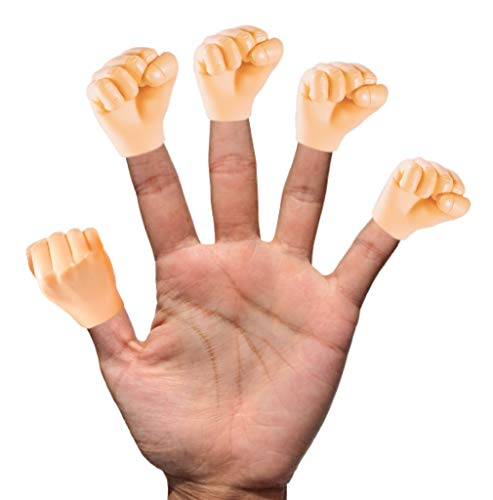 Daily Portable LLC Tiny Hands (Fist Bump) - 5 Pack - Fist Style Mini Hand Puppet