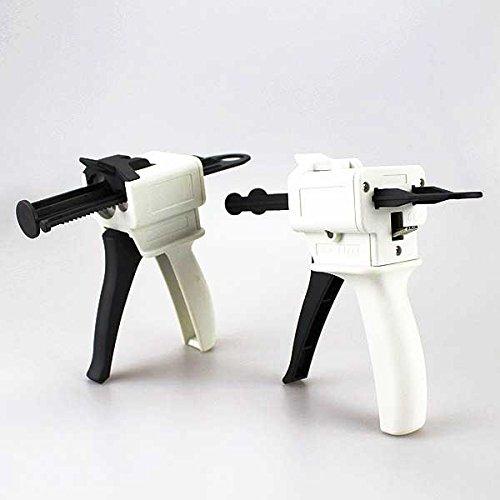 Airgoesin 2 pcs 4:1 / 10:1 and 1:1 / 2:1 Ratio Dental Impression 50ml Mixing Dispenser Gun 135 Degree Both Autoclavable