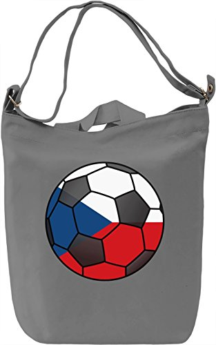 Czech Football Borsa Giornaliera Canvas Canvas Day Bag| 100% Premium Cotton Canvas| DTG Printing|
