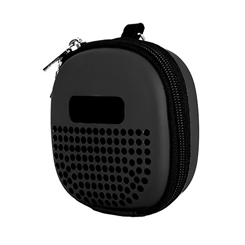Travel Case for Bose Soundlink Micro Bluetooth Speaker with a Elestic Strap and a Carabiner - Black