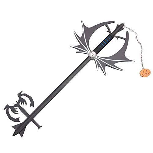 Kingdom Hearts Sora Pumpkin Head Key Wooden Cosplay Prop 92cm]()