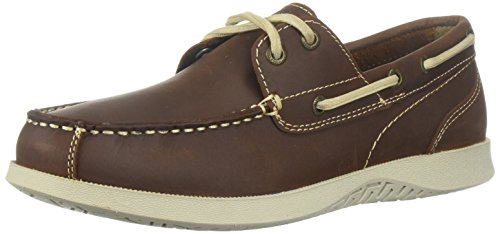(Nunn Bush Men's Bayside Boat Shoe Two Eye Oxford, Brown, 7)
