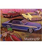1967 FORD MUSTANG Sales Brochure Literature Book Piece