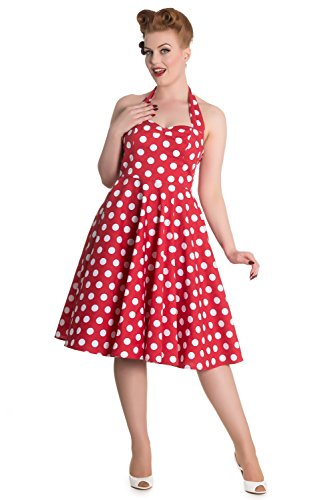 Hell-Bunny-60s-Red-and-White-Dots-Romance-Halter-Flare-Party-Dress