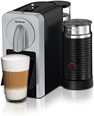 Nespresso EN270.SAE Cafetera, 1150-1260 W, capacidad 0,8 l, eyección automática de cápsulas, 19 bares de presión, 1260 W, 0.8 litros, Plástico, Plata: Amazon.es: Hogar