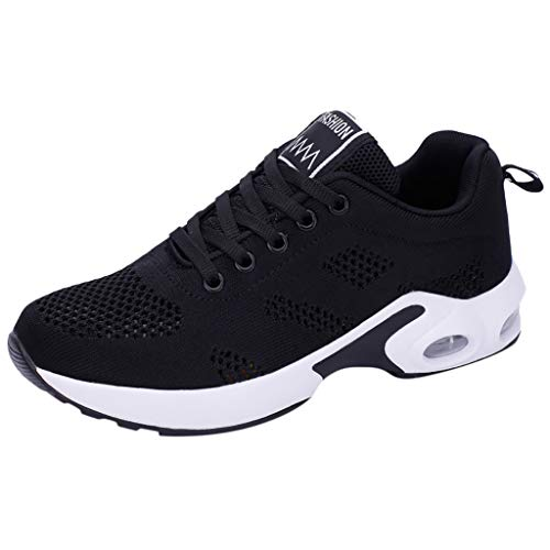 OrchidAmor 2019 Fashion Women's Mesh Fitness Sport Sneakers Casual Shoes Student Mesh Breathable Running Shoes Black