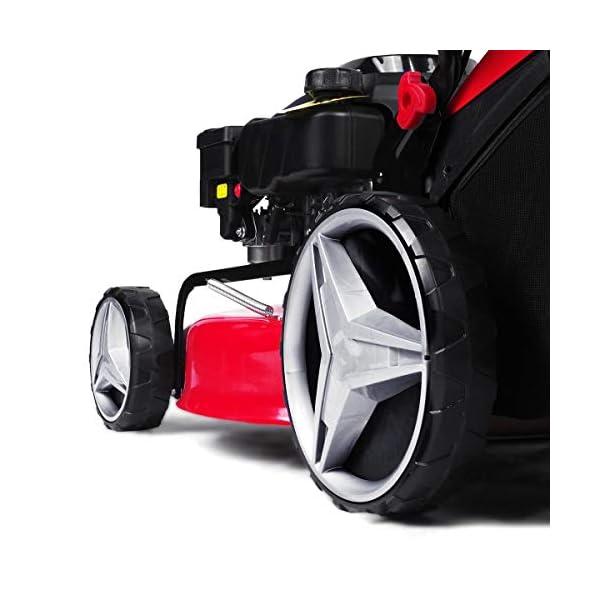 BRAST Tondeuse thermique autotractée 51cm 224cc moteur de marque 4 temps 7cv 60l réglage central 30-80mm, capot en tôle…