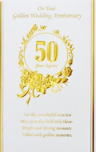 - On Your Golden 50th Wedding Anniversary - 50 Years Together - Greeting Card -