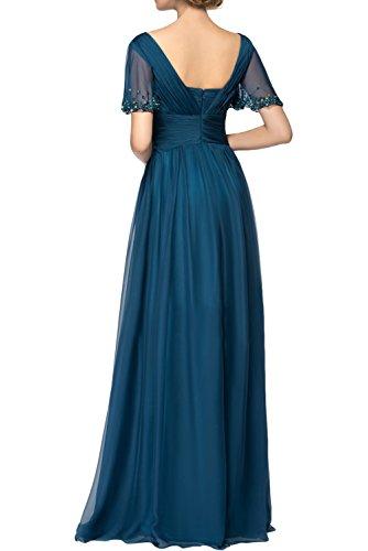Topkleider mujer para Vestido Azul trapecio rqX0rP