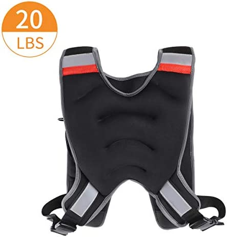 MOVSTAR Weighted Vest with Reflective Stripe, Adjustable Weighted Vest for Running, Workout, Cardio, Walking and Weightlifting for Men&Momen,12/20lb