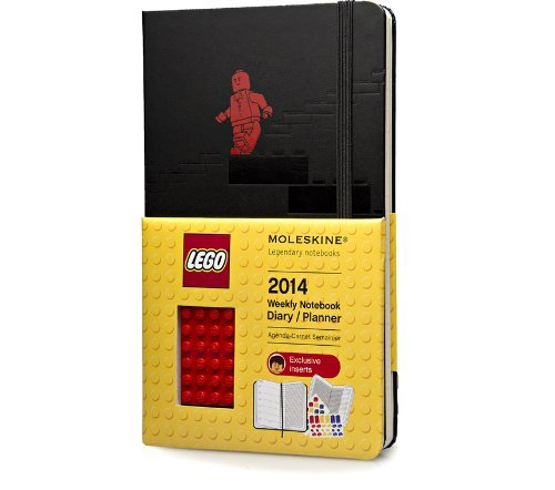 Moleskine 2014 LEGO Limited Edition Weekly Planner+Notes, 12 Month, Large, Black, Hard Cover (5 x 8.25) (Planners & Datebooks) by Moleskine (2013-05-22) ()