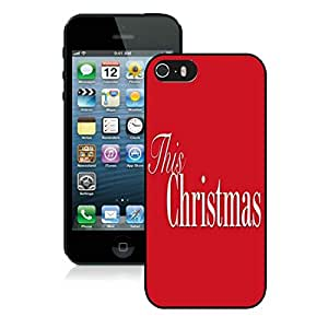 Popular Design Iphone 5S Protective Case Merry Christmas iPhone 5 5S TPU Case 26 Black
