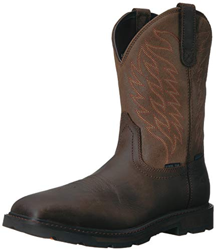 - Ariat Work Men's Groundbreaker H2O Steel Toe Western Boot, Dark Brown-3, 9 D US